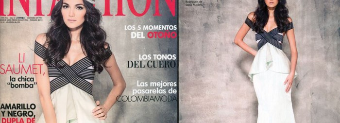 Mariana Rodríguez en la editorial de la Revista Infashion